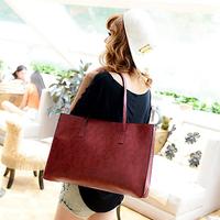 Hot New Arrival 2015 Brief Vintage Oil Skin Leather Women Messenger Bags Shoulder Cross-body Handbag Desigual Bolsas Tote