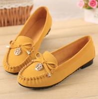 New Brand 2015 Ladies Flats Shoes Alpargata Women Casual Shose Cute Zapatos Mujer Pu Leather Mocassin Sapatos Bowtie Femininos