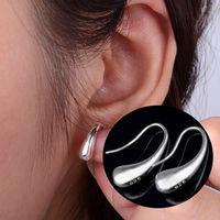 2015 New Arrival Fashion Women Girls Shining Teardrop Hook in 925 Sterling Silver Earrings