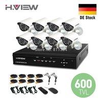 8CH CCTV System D1 HDMI DVR 8PCS 600TVL IR Outdoor Weatherproof CCTV Camera 24 LEDs Home Security System Surveillance Kits