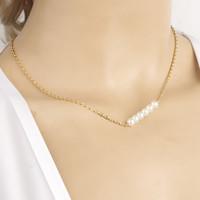 Fashion Simple Elegant imitation pearl short necklace for Women Fancy Jewelry