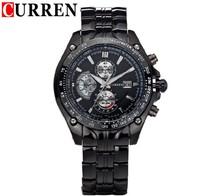 CURREN Men Watches Top Brand Luxury Men Military Wrist Watches Black Full Steel Men Sports Watch Waterproof Relogio Masculino