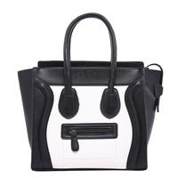 Hot  Sale High Quality 2014 New Fashion Women Smiley PU Leather Handbag Bags Womens Shoulder Bag Large Messenger Bag