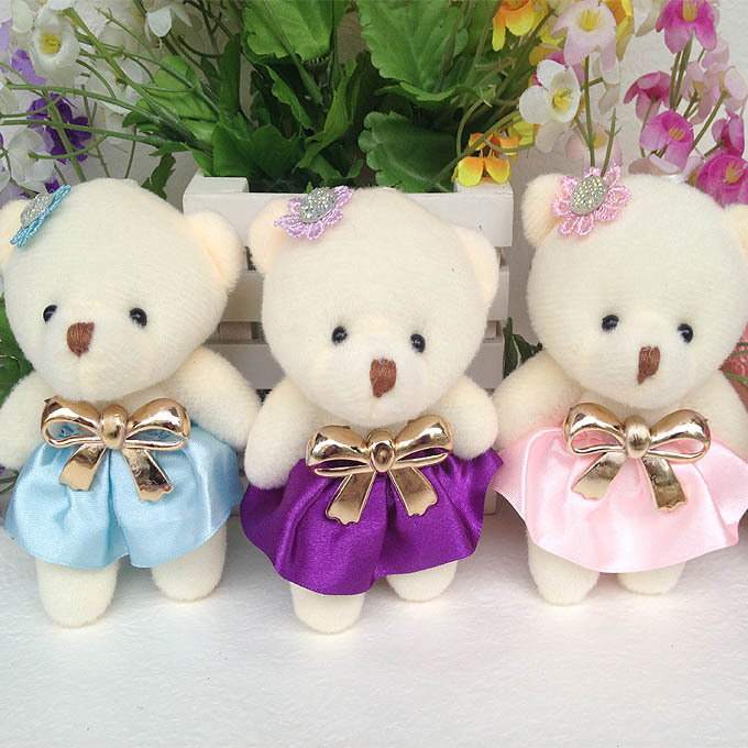 TOP SALE Anime Baby Toys 12PCS/SET Teddy bear Stuffed Plush Doll Small Wedding Gift toys Valentine's day gifts(China (Mainland))