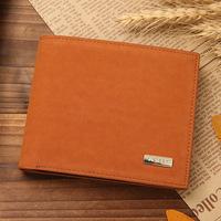 NEW arrival Men's wallet brand Nubuck Cowhide short Wallets men's purse card wallet coin purse Free shipping