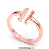 Fashion open women's ring.18 KGP simple modelling; Size: 6-9 ; Wholesale H letters shape ring;Free shipping+gifts.You can mix