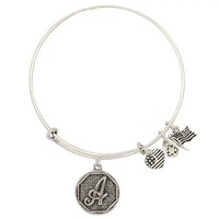 65mm diameter silver plated simple wiring Alex and Ani Initial alphabet Bangle luckly bracelets for men free shipping