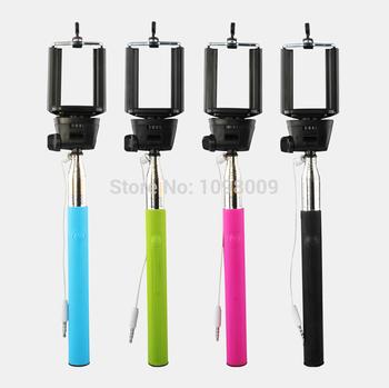 Selfie монопод Selfie палка ( с кабелем ) + телефон камеры автопортрет держатель без bluetooth для iPhone андроид
