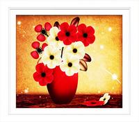 DIY 5d pictures diamond mosaic painting flowers vase round diamond embroidery rhinestone pasted cross stitch sets needlework