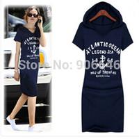 Hot Sale 2015 spring new dress for women Q150 Plus Size 2 colors cozy Cotton letter printed Slim Casual Dresses wholesale retail