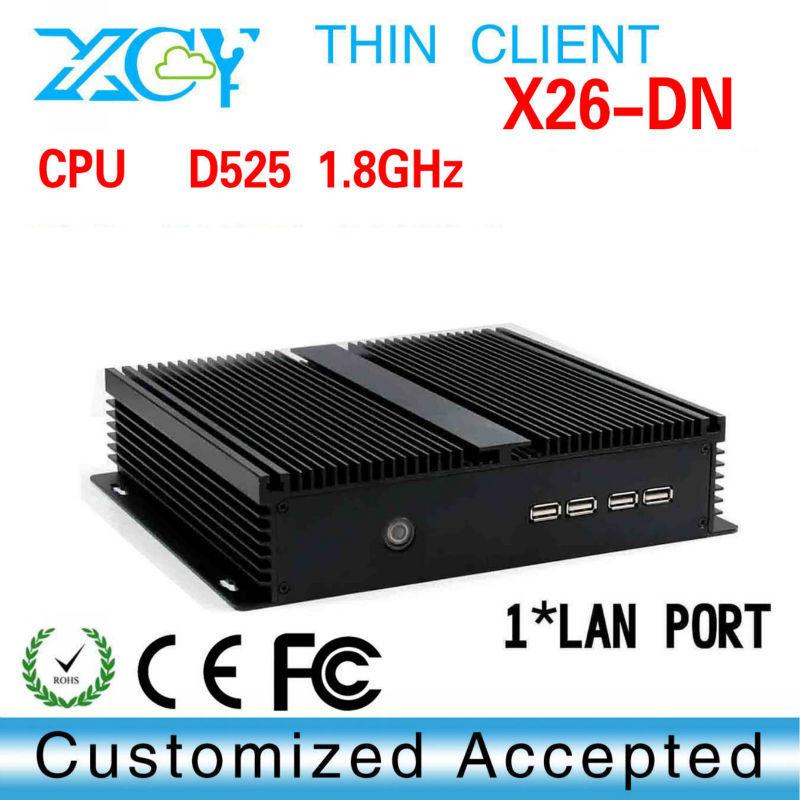 High-grade wireless terminal thin client wireless network X26-DN home computer windows xp D525 barebone mini pc(China (Mainland))