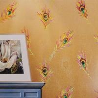2015 special papel de parede photo wallpaper retro ktv bar cafe hotel phoenix peacock feather clothing soundproof entertainment