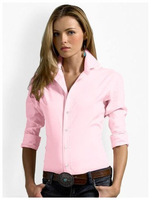 Good Quality! 2015 new brand shirt 100% cotton fashion casual shirt long-sleeved women dress shirt Free Shipping #7028