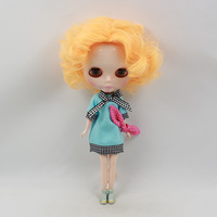 Free Shipping hot sale TB-635  Nude B  doll lovely DIY toy birthday toy  Christmas gift for girls fashion 4 big eyes with Hairs
