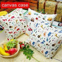 canvas cartoon cushion cover for kids car animal pattern pillowcase decotaive girafa decor