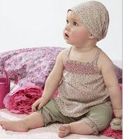 Baby Girls Clothing Set Summer Flower Print Clothes Set 3PCS Headband Vest Pant Set 2015 Baby Summer Clothing