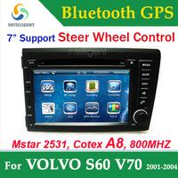 For VOLVO S60 V70 2 Din Car DVD gps with GPS car Radio DVD Bluetooth RDS TV USB Car Stereo SD Car receiver steer wheel control