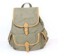 New 2014 casual canvas backpack women fashion school bags for girls backpack shoulder bags mochila H006 armygreen