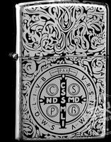 Wholesale 3pcs/lot   Black Ice sided Constantine zippoo  lighter