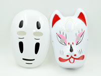 2015 Hot Sale 2PCS Spirited Away  Cosplay  Mask  PVC Halloween Carnival Japanese Cartoon No-face Man Party Mask  New Arrival