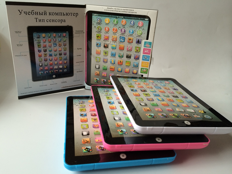 Best Selling!Russian Baby Electronic Toy Children Kids Ipad Learning Machine Toy Free shipping 1PCS(China (Mainland))
