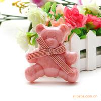 Cute cartoon bran bear manual oil soap cosmetic premium handmade soap stock wholesale 1a305