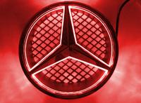 Car front grille for MERCEDES BENZ C-Class W204 C230 C260CGI COUPE C350 LED LOGO 2008-2013, BADGE light, EMBLEM LAMP