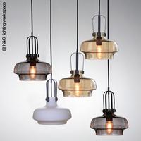 Nordic IKEA loft vintage glass chandeliers Edison bulb lamp single head Restaurant Cafe
