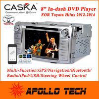 2015 Original CASKA Car DVD Player GPS Navigation System CA163-Q5 with Free Maps for Toyota Hilux 2012-2014 Car In-Dash System
