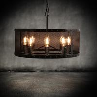 Retro loft metal cages 8 iron chandelier creative industries network bar and restaurant lights