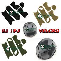 Airsoft Tactical Helmet Velcro for PJ Sytle Fast Carbon Helmet 3 Colors Green/DE/BK