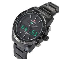 High Quality Top Brand Luxury Men Wristwatch Waterproof Quartz Sport Military Watches Men Full Steel LCD Analog Digital Clock