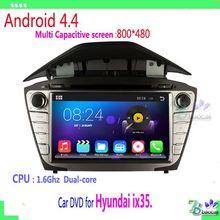 800*480 2 din Pure Android 4.4 Car DVD For Hyundai ix35. with WIFI 3G GPS USB Capacitive screen Car radio car Audio car stereo
