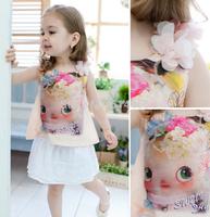 Summer Children Tops Baby Doll Sleeveless T-shirt for Girls Cotton Vest