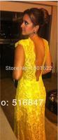 Wedding Dresses 2014 free shipping vestido de noiva Floor-Length Sheath High Sleeveless Lace Appliques Cap Sleeve