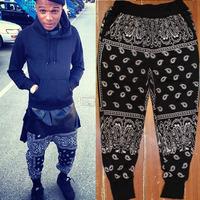 Fashion Street West Hiphop Cashers Hot High Quality Male Casual Health Pants Men Bandana Mens Pants Trousers Free