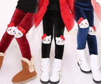 Casual New Winter wram girl tight pants, Kids Girls cartoon trousers , Children's cute Pants