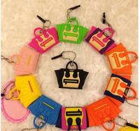 New lovely gift cute brand smile bags dust plug  handbag bag plug earphones 3.5mm for iphone Samsung Common to mobile phones