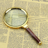 B39 2015-hot-selling Useful Handheld 90mm 10X Magnifier Magnifying Glass Loupe Reading Jewelry free shipping