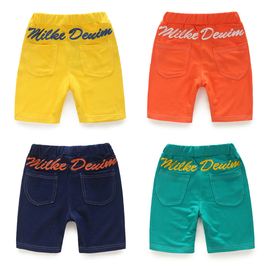 2015 Summer Free Shipping Girls Letter Capris Baby Boys Casual Half Trousers(China (Mainland))