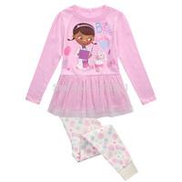 2015 new  baby boys girls spring autumn Doc McStuffins Pajamas set sleepwear girl homewear cartoon sleep set children kids