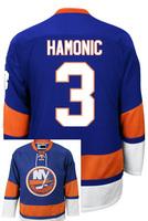 New York Islanders Travis HAMONIC #3  Home stitched Hockey Jersey