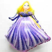 New princess balloon for girl\s birthday decoration helium balloon foil ballon