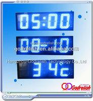digital blue led clock