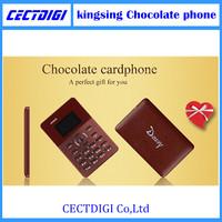 New arrival Kingsing Chocolate card phone ultrathin phone Pocket phone slim phone Multi-Language