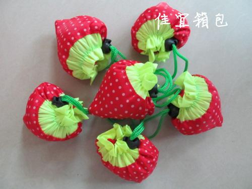 Strawberry bags Large canvas strawberry shopping bag folding eco-friendly bag shopping bag logo(China (Mainland))