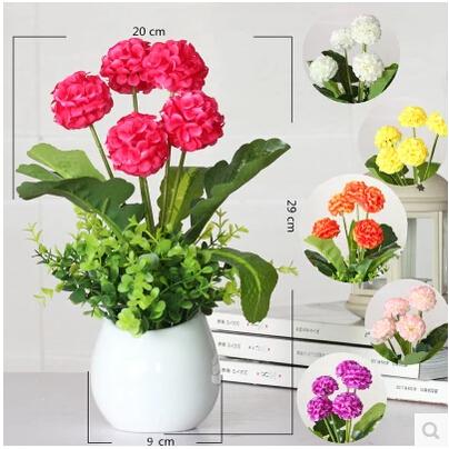 Ceramic vase Artificial Flowers Set Wedding Decoration Home Accessories Bonsai Valentine Day Gift Flores Fake Plants(China (Mainland))