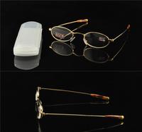 full rim gold All metal Exquisite Thin legs men women reading glasses +1.00+1.50+2.00 +2.5+3.0+3.50+4.0