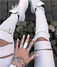nuevos pantalones de moda para la mujer pantalones de invierno con cremallera(China (Mainland))