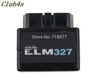 Latest Version V1.5 Black Super MINI ELM327 Bluetooth OBD2 / OBDII ELM 327 Car Code Scanner Free shipping